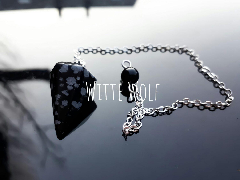 Sneeuwvlok obsidiaan edelsteen