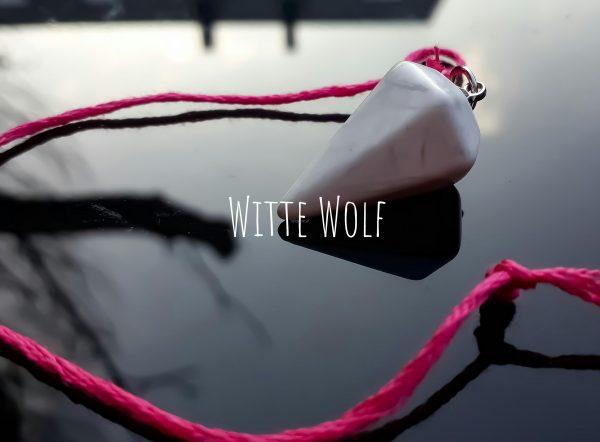 pendel witte turqouise touw