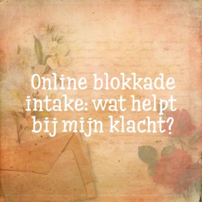 Online blokkade intake
