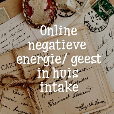 negatieve energie in huis intake